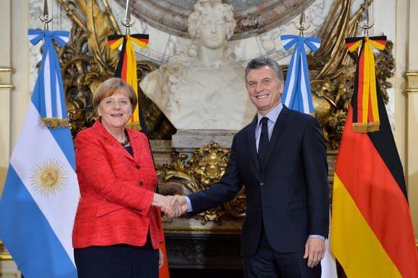 Angela Merkel y Mauricio Macri